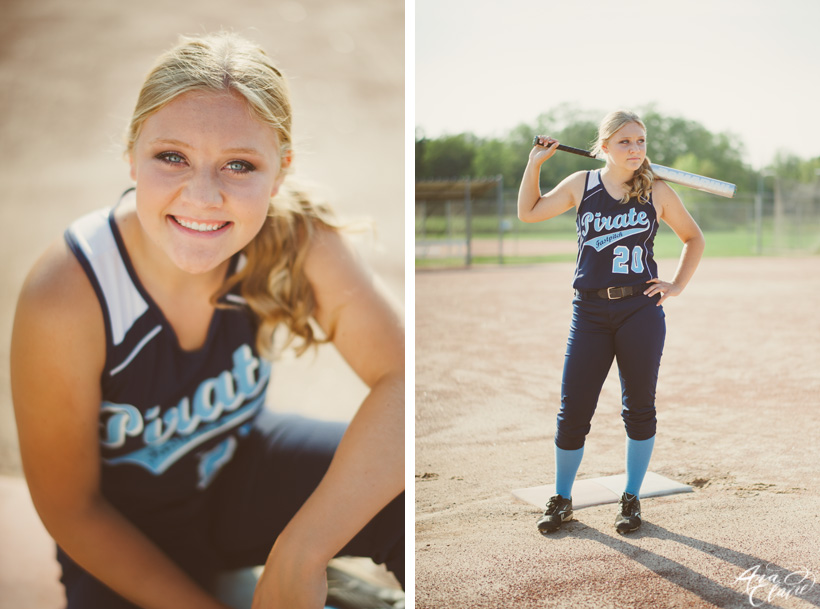 softball senior photos