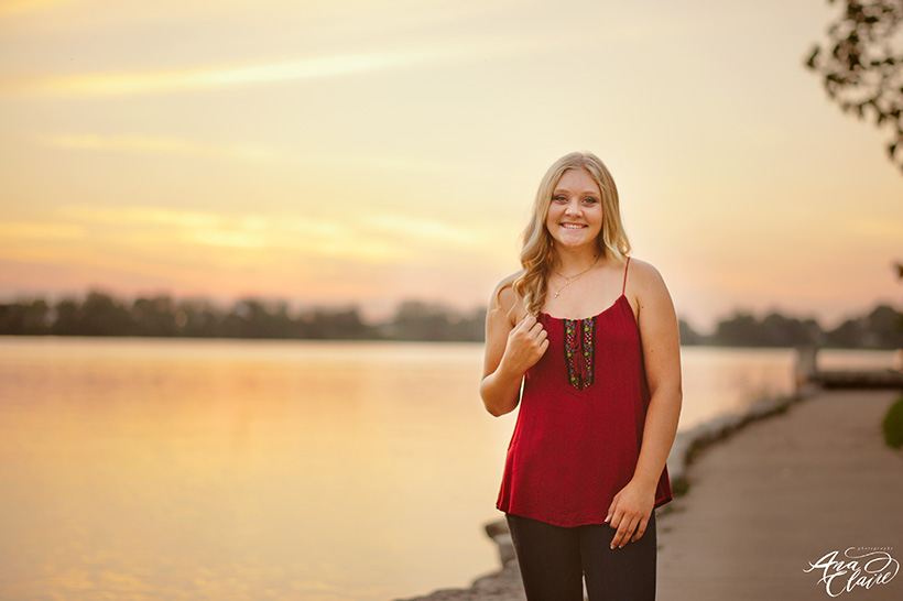 sunset senior photos